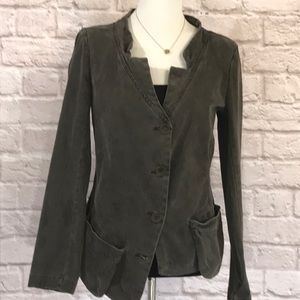 Lilith/Anthropologie Gray cotton jacket size M